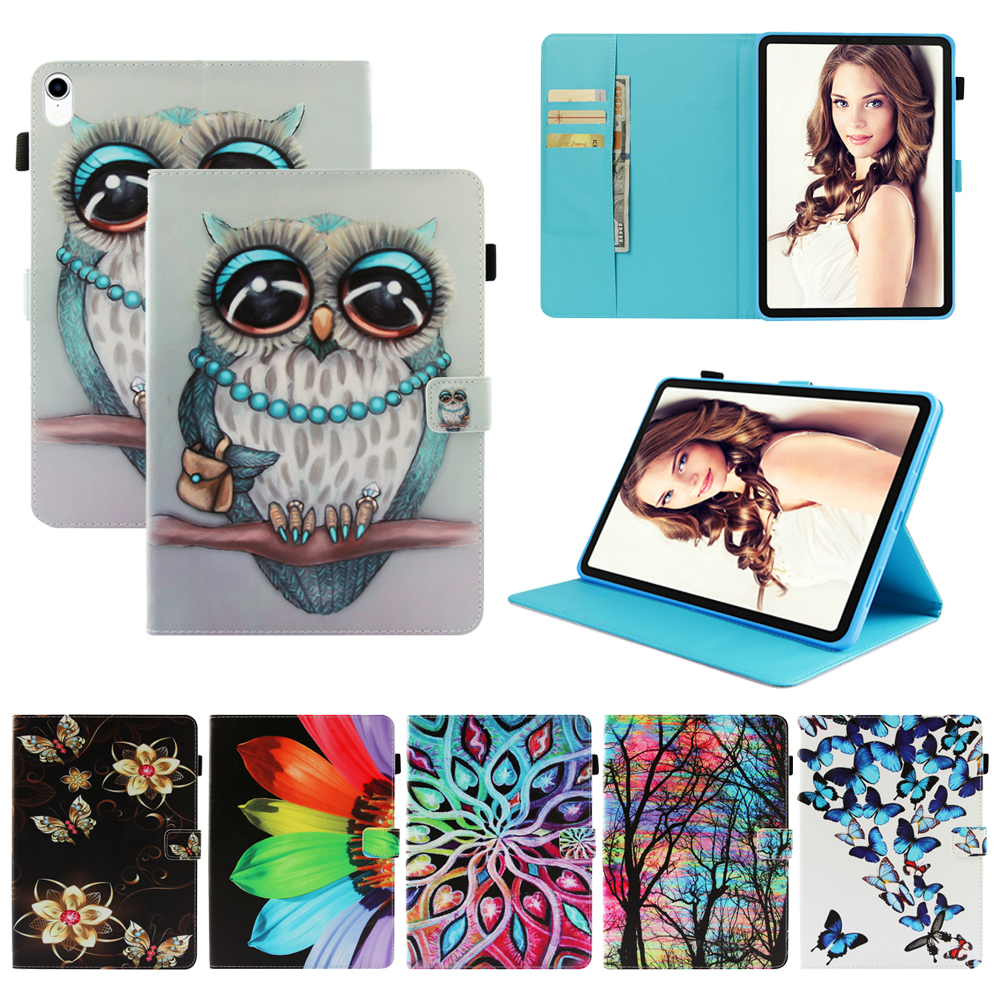 Funda For Apple iPad Pro 10 5 2017 Fashion 3D Printed Pattern PU Leather Flip Wallet Case Cover 10 5 quot Silicone Shell Coque in Tablets amp e Books Case from Computer amp Office