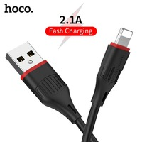 HOCO USB Cable for iPhone 6 7 8 X XR XS Max 5 5s 1M Data Fast Charging Cable Cable for iPad Pro iphone charger cord