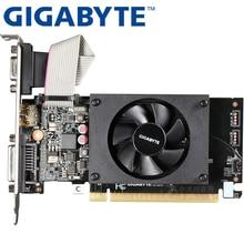 GIGABYTE видеокарта GT710 1 Гб 64 бит GDDR3 видеокарты для nVIDIA VGA карты Geforce GT 710 используется Hdmi Dvi игра