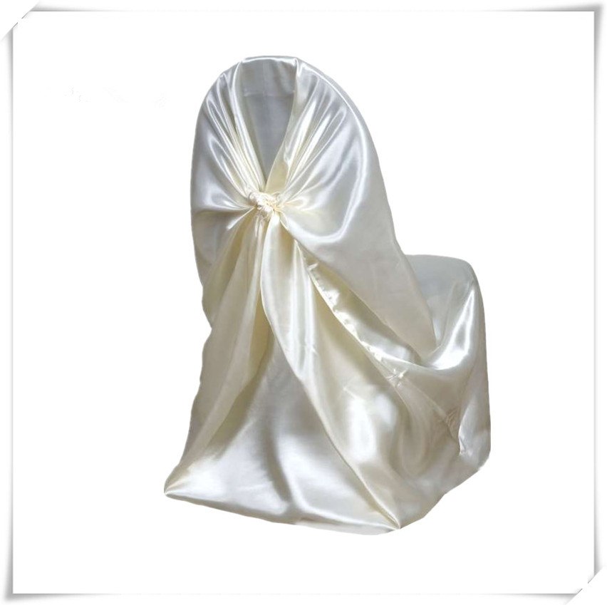 2017 Satin Universal Chair Cover For Wedding Wholesale Price 50pcs