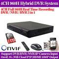 4CH DVR 960 H HDMI DVR Gravador de Vídeo Digital Para Sistema de Câmera de Segurança CCTV PTZ com 1 TB Hdd