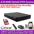 4CH DVR HDMI 960H Digital Video Recorder DVR For Security CCTV Camera System PTZ with 1TB Hdd
