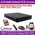 4CH DVR HDMI 960H Digital Video Recorder DVR For Security CCTV Camera System PTZ with 1TB Hdd