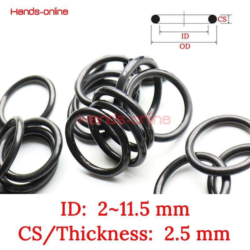 30Pcs Black Round Nitrile Butadiene Rubber NBR O-Ring 11mm OD 1.9mm Width
