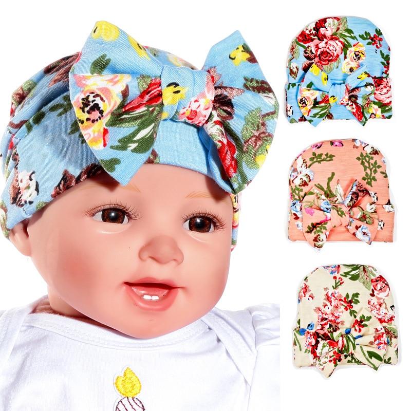 Click here to Buy Now!! 2018 Nouveau 1 PCS Nouveau-Né Bébé Chapeau Beanie  Fleur Bowknot Cap infantile Filles L 40a6f8dac37