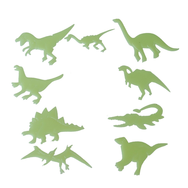 9Pcs Luminous 3D Wall Stickers Dinosaurs Stickers Bedroom Home Decoration  J2Y