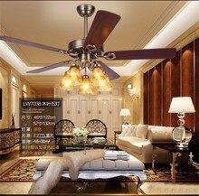 high quality Fan lamp restaurant fan living room European style retro minimalist home