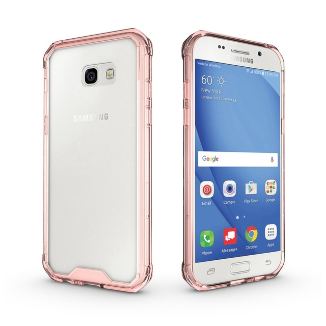 Slim Hybrid Cover Air Cushion Tech TPU Frame Case With Acrylic Clear Back Panel Shockproof Mask Shell For A5 2017 A520F 5.2inch