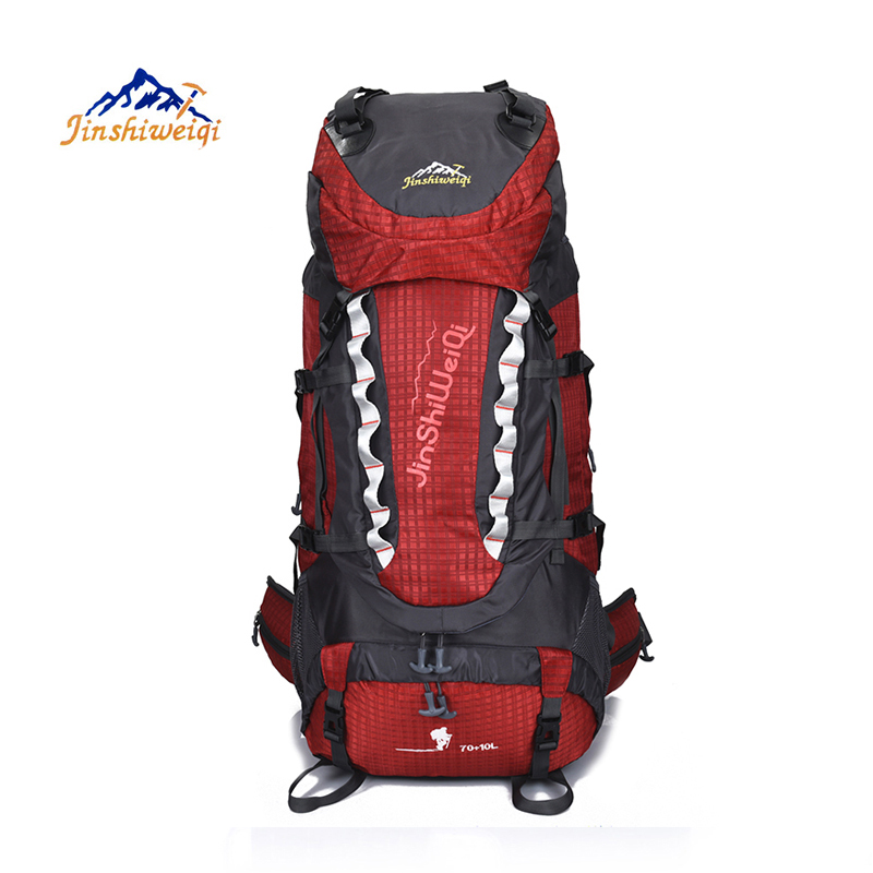 80L Outdoor Water Resistant Sport Backpack Hiking Bag Camping Travel Pack Mountaineer Climbing Sightseeing Hike 2017 18l waterproof camping backpack 2l water bag outdoor sports climbing riding cycling travel bag sport rucksacks knapsack