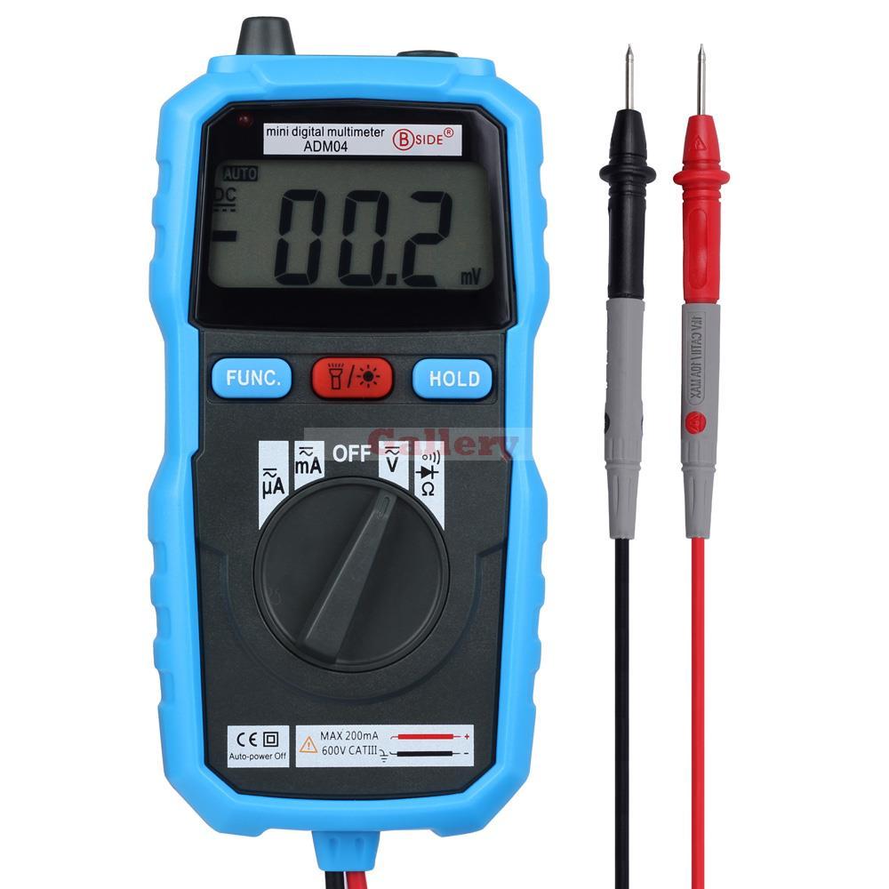 Mini Pocket 2000 Counts LCD Digital Multimeter DMM DC/AC Voltage Current Meter Diode Tester Auto Ranging Multimetro Bside ADM04  цены