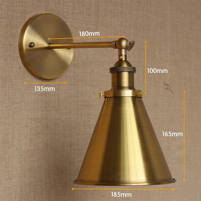 LOFT antikes Goldmetall justieren Wandlampe für - Innenbeleuchtung - Foto 2