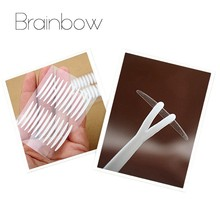Brainbow 220Pairs Narrow Eyelid Paste Super Invisible Double Eyelid Sticker with Clip Tape Technical Eye Tapes For Makeup Tools