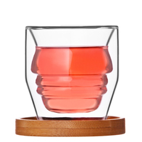Creative People Curve Glass Cup Original Design Double Glass Drink Cup Micro Cups
