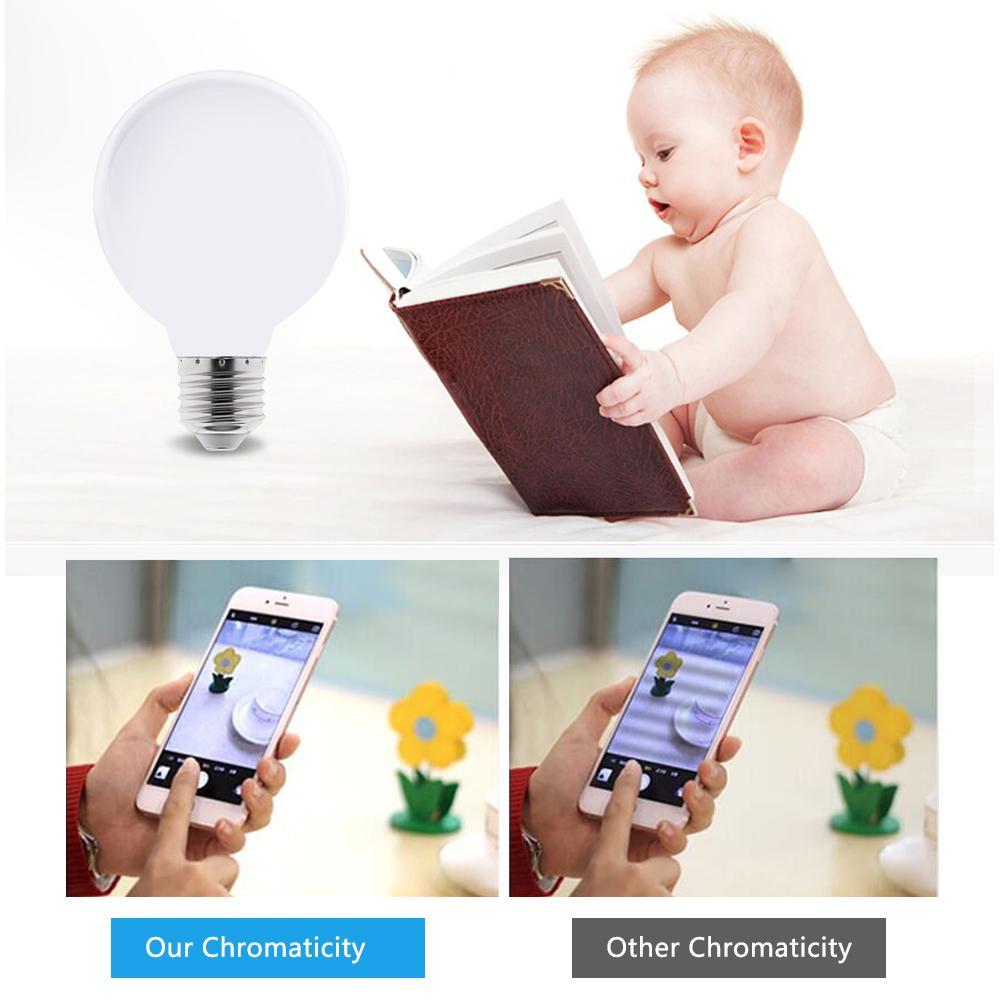 Image 4 - Milky LED Light Bulb E27 220V 110V Lampada G80 G95 G125 LED Lamp Ampoule LED Bulb Cold White Warm White for pendant lamp-in LED Bulbs & Tubes from Lights & Lighting