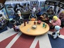 5cm 6pcs/set One Piece Doflamingo Kuma Teach Dracule Mihawk Action figure toys collection doll Christmas gift