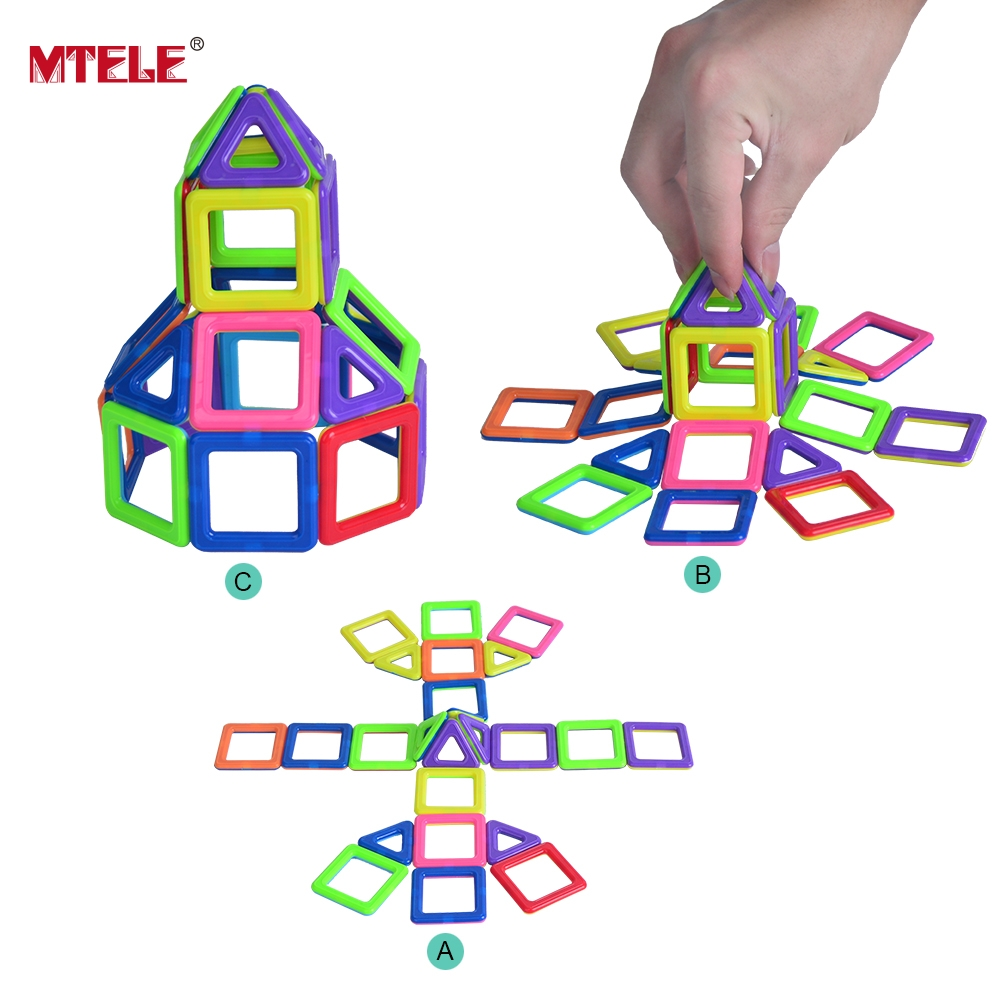 ФОТО MTELE Brand Mini Magnetic Designer Building Block Toys High Quality 102PCS 3D DIY Construction Toy For Children
