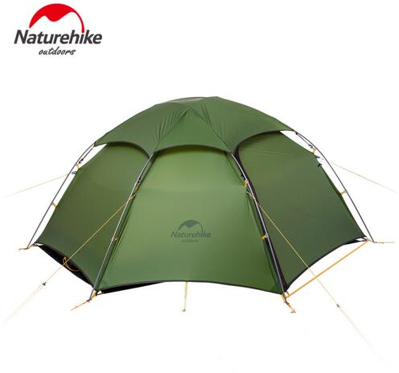Naturehike Ultralight Tent 2 Person 20D Silicone Fabric Double Layers With Waterproof Tent Roof Rainproof Camping Tent naturehike camping tent three person ultralight tent double layers waterproof tent nh15t003 t210t