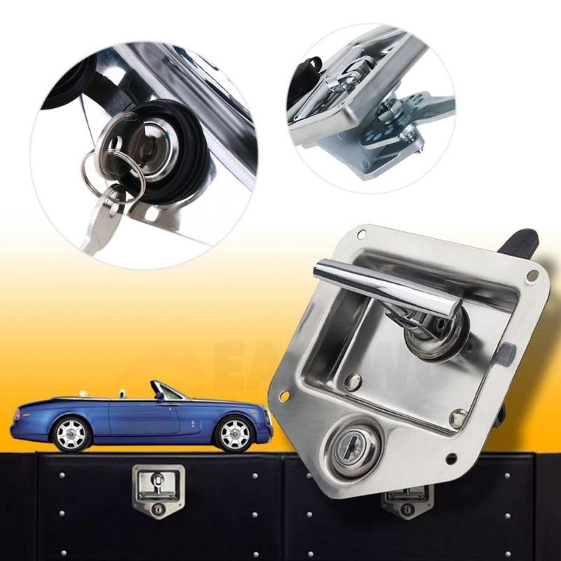 T Type Shape Stainless Steel RV Car Antivol Handle Locks Truck Latch Toolbox Locks Caravan Camper Auto rv Caravan Accessories the vintage caravan