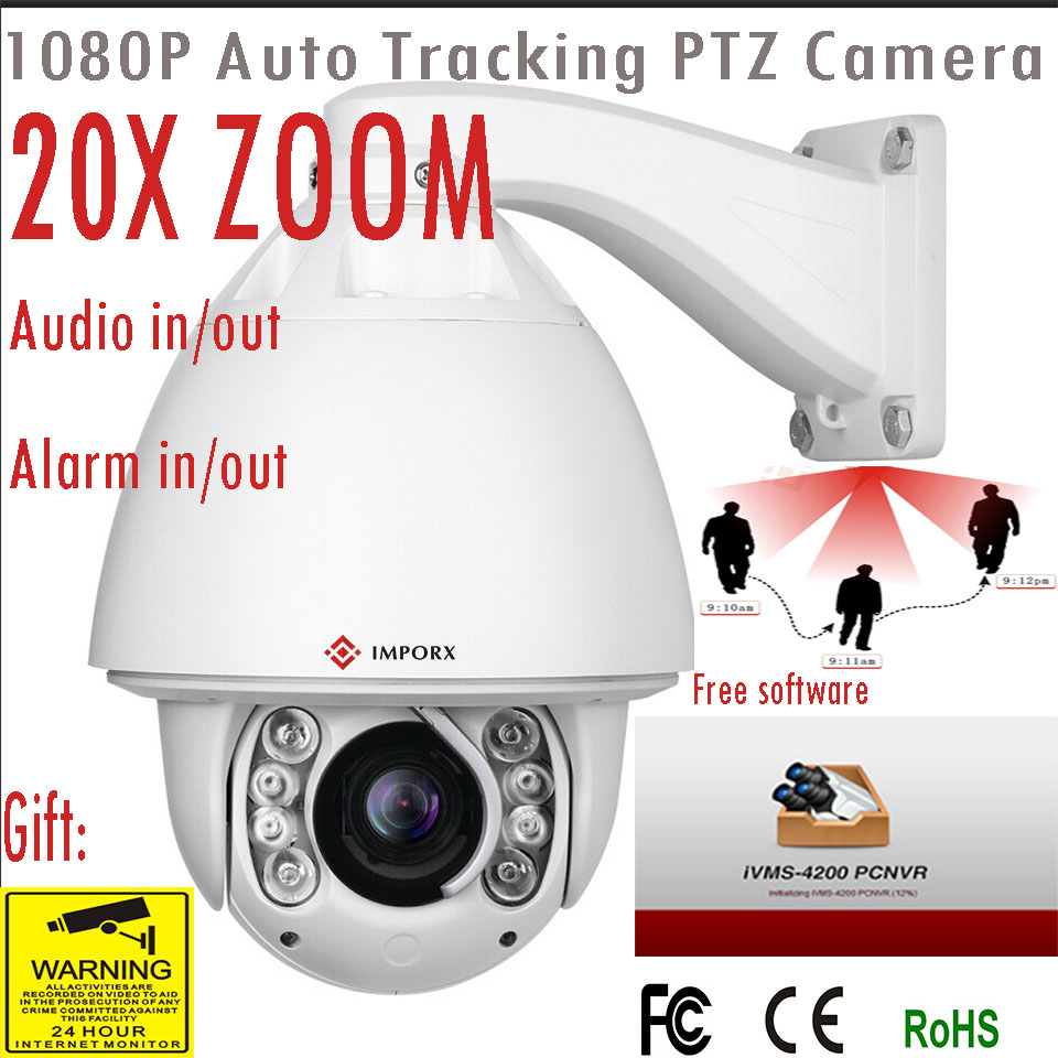 3MP 1080P PTZ IP Camera 30X High Speed Dome Camera Network Onvif Auto Tracking Zoom IP CCTV Camera Security Support POE Audio multi language ds 2cd2735f is new high quality varifocal lense 3mp ir dome security network ip cameras w audio alarm support poe