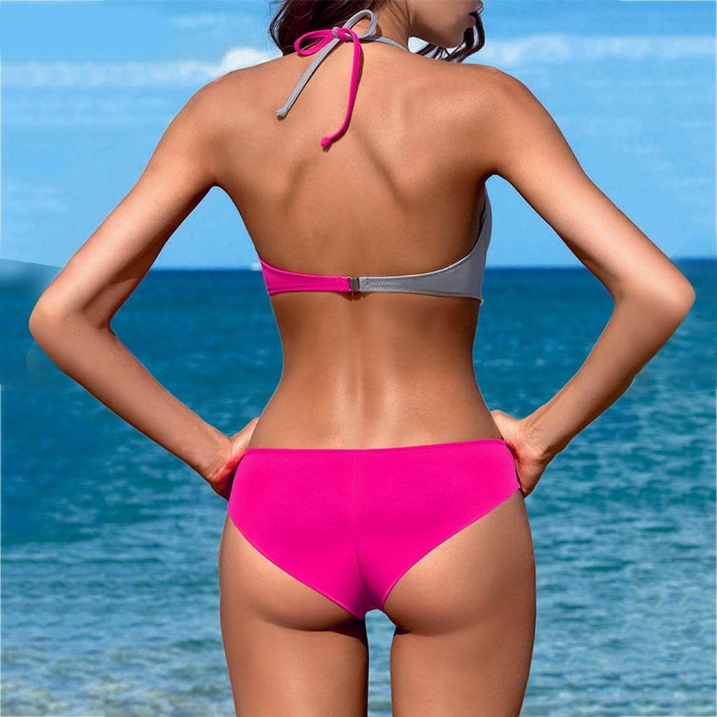 HTB15RZTXfvi21VjSZK9q6yAEpXaE 7 Colors Womens Padded Push-up Bra Tankini Bikini Set 2019 Swimsuit Low Waist Bathing Suit Swimwear Two Pieces Halter Beachwear