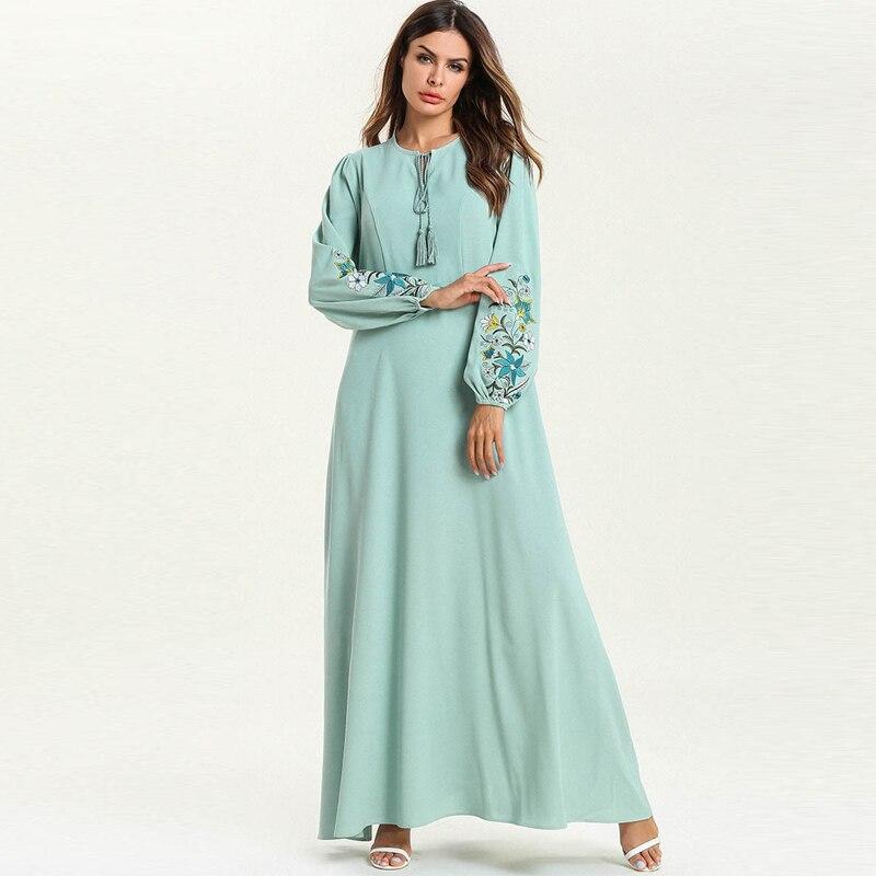 Kaftan Dubai Abaya Turkey Islamic Arabic Muslim Hijab Dress Caftan Marocain Elbise Ramadan Sukienki Dresses Eid Vestidos Robe