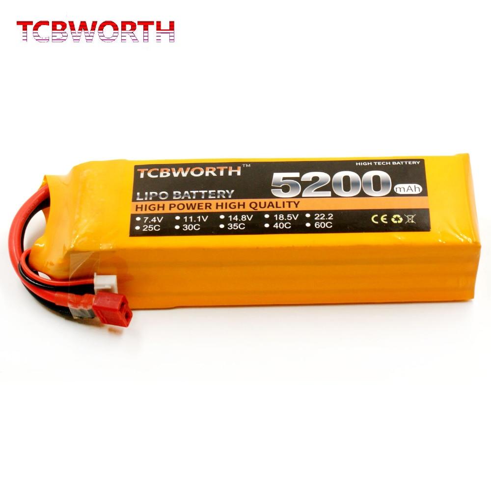 Nouveau 3 s RC LiPo batterie 3 S 11.1 V 5200 mAh 30C batterie pour RC avion hélicoptère Quadrotor RC recharge li-po Batteria 3 S T/XT60