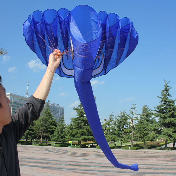 New Arrive Outdoor Fun Sports 3.8m Elephant Kite / Animal Software Kites With Handle & Line Good Flying
