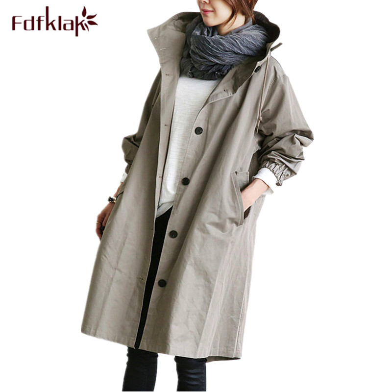 Fdfklak New Loose jacket for pregnant women autumn winter pregnancy coat female trench coats windbreaker maternity jackets pregnant women autumn and winter new windbreaker jacket pregnant women loose casual jacket pregnant women long cotton coat