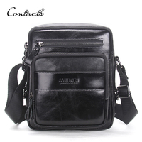 CONTACT S Genuine Leather Bag Business Style Men S Bags Small Shoulder Messenger Crossbody Bags Men