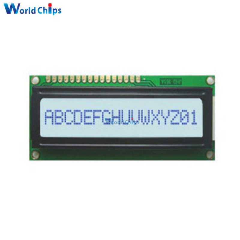 White LED Backlight 1601 16X1 Character Digital LCD Display Module LCM STN SPLC780D KS0066 5V Single Row Interface Board