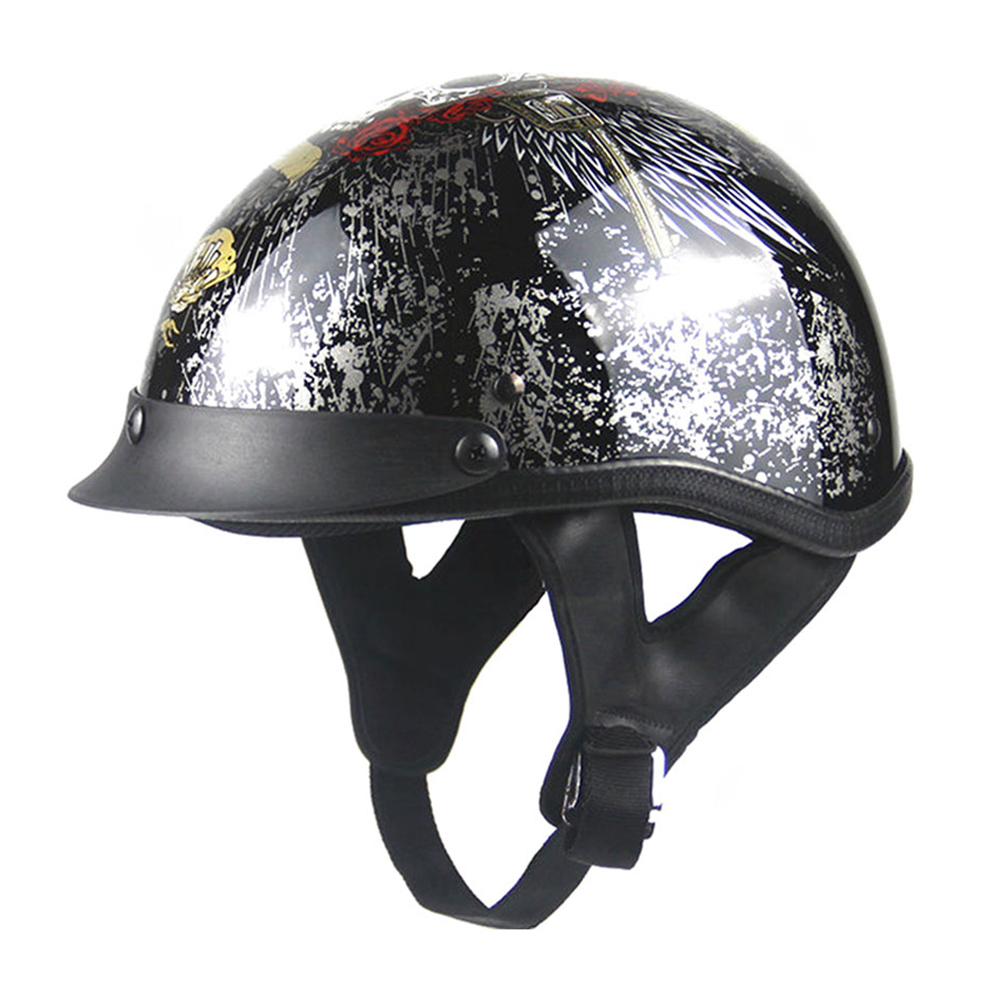 New Vintage German Style Half Helmet Retro Motorcycle Helmet Cruiser Scooter Bike Touring Moto Helmet Motorbike Helmet DOT