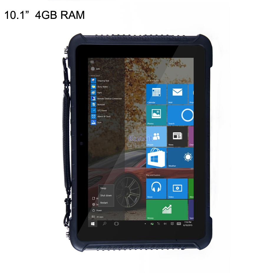 Original Rugged Waterproof Windows 10 Tablet PC Smartphone Intel Quad Core 10.1