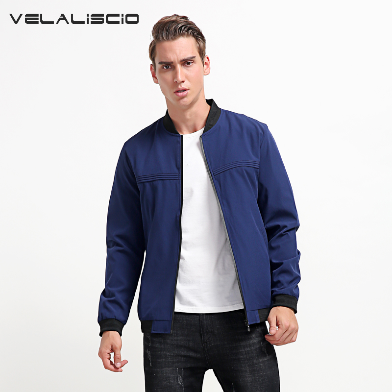 VELALISCIO Brand 2018 Mens Spring Fashion Suit Jacket Casual Baseball Collar Jacket Handsome Young Mens Clothin ...