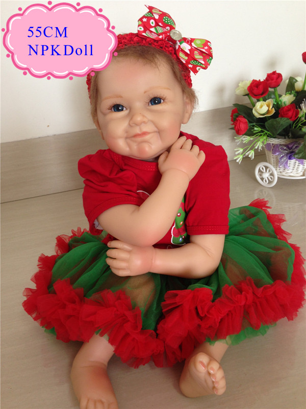 High End Gift 55cm 22inch Silicone Dolls Reborn With