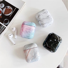 1PCS Luxury Marble Protective Cover For Apple Airpods 1:1 Bluetooth Earphone Charge Box Protective Cases Skin Accessories
