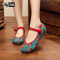 New design chinese style shoes women fashion embroidery shoes women flats shoes summer soft sole ladies casual shoes oxfords