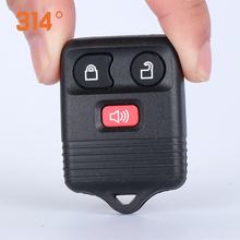 купить Three-button Black Car Key Remote Control Shell Replacement Key Shell Suit For Ford Old Wing Tiger Car Key Accessories Tool дешево