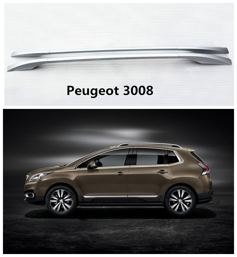 Auto Roof Racks Luggage Rack For Peugeot 3008 2013.2014.2015.2016.2017 High Quality Aluminum Screw Installation Car Accessories free shipping fiesta hatchback high quality aluminum roof rack luggage rack punch free 1 3 m