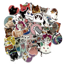 50pcs Cute cat cartoon paster funny anime decals scrapbooking diy stickers decoration phone waterproof accessory