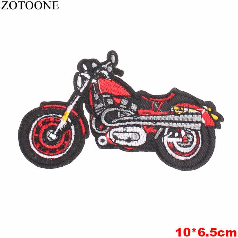ZOTOONE LOVE Skull ดอกไม้ Star รถจักรยานยนต์ 69 Patches เหล็กบนหรือเย็บผ้าสติกเกอร์สำหรับเสื้อผ้าป้ายปัก Appliques DIY B