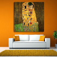 2017 Gustav Klimt Kiss Printed Painting On Canvas Wall Art Picture For Living Room Home Decor