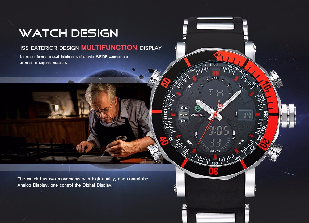 Weide WH5203 Watch Analog LCD Dual Time