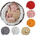 Newborn Baby Soft Handmade Photography Photo Prop Infant Backdrop Tails Child Braid Blanket Rug 6 Color Available