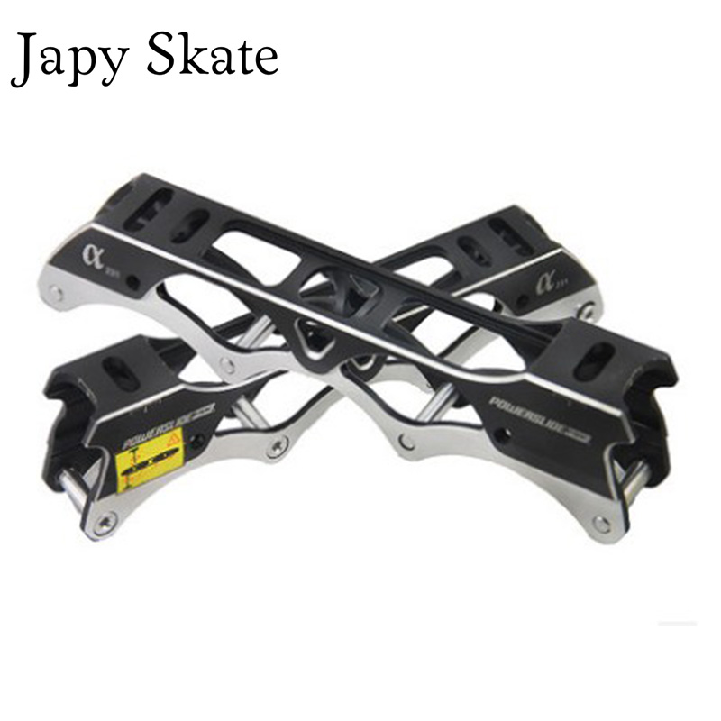 Japy Skate Original Powerslide Alpha 243mm Rocking Inline Skating Frames Rockered Basin For SEBA Slalom Skates