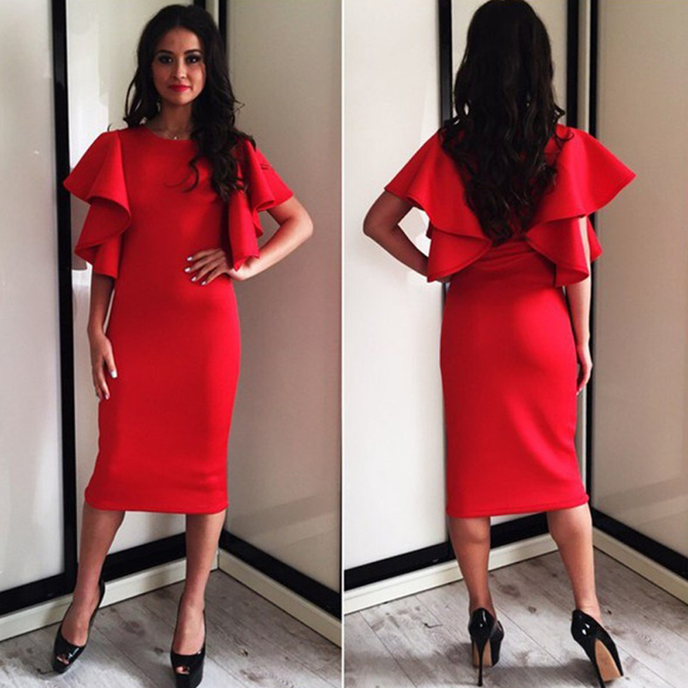 CP New High Quality 2017 Autumn Vestidos Long Sleeve Sexy Dew Shoulder  Solid Warm Winter Women Dress Office Dress vestidos-in Dresses from Women s  Clothing ... 87b8acd26537