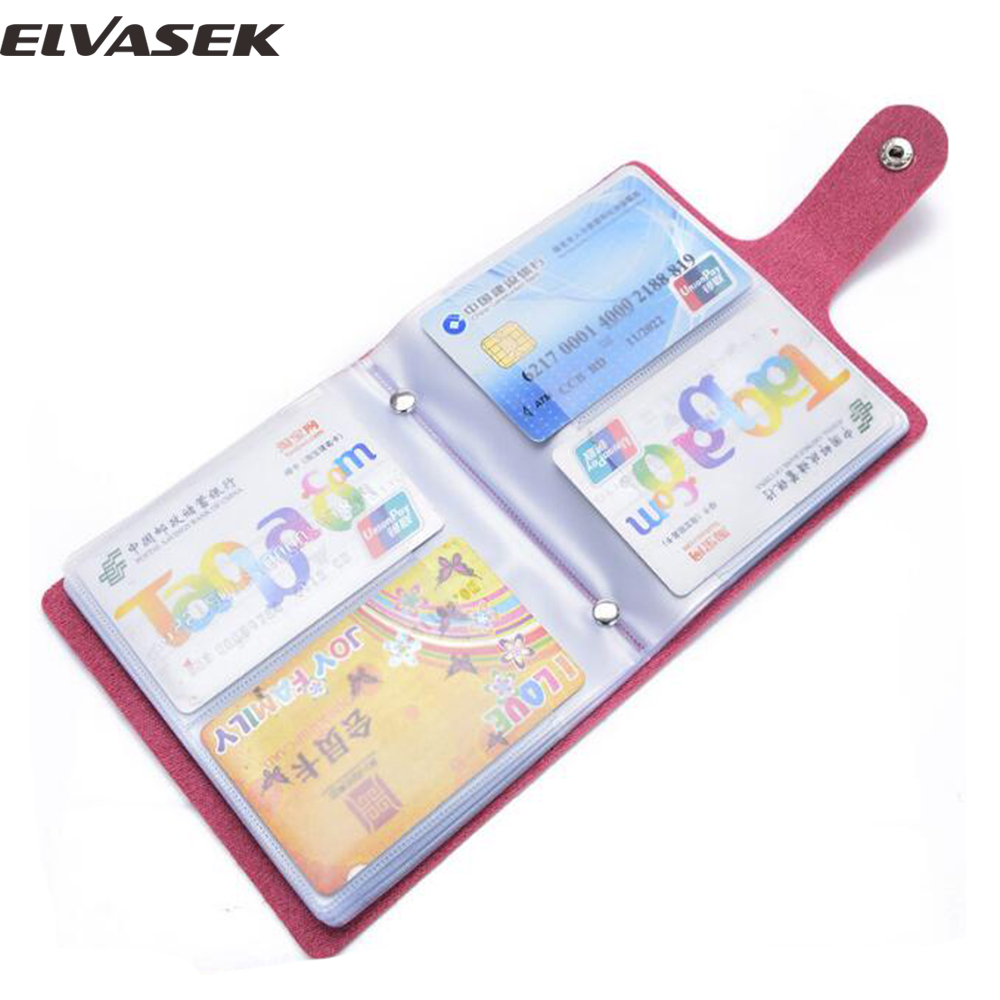 Online Shop Elvasek 60 cards women men\'s leather credit card holder ...