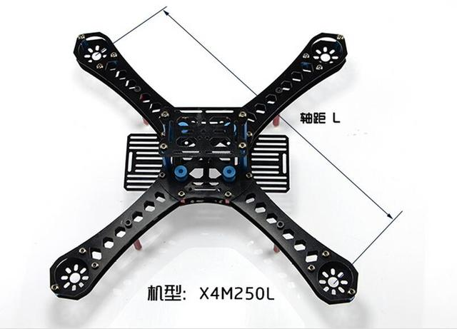 X4 250 280 310 360 380 mm Wheelbase FiberGlass Alien Across Mini Quadcopter Frame Kit DIY RC Multicopter FPV Drone F14889/93