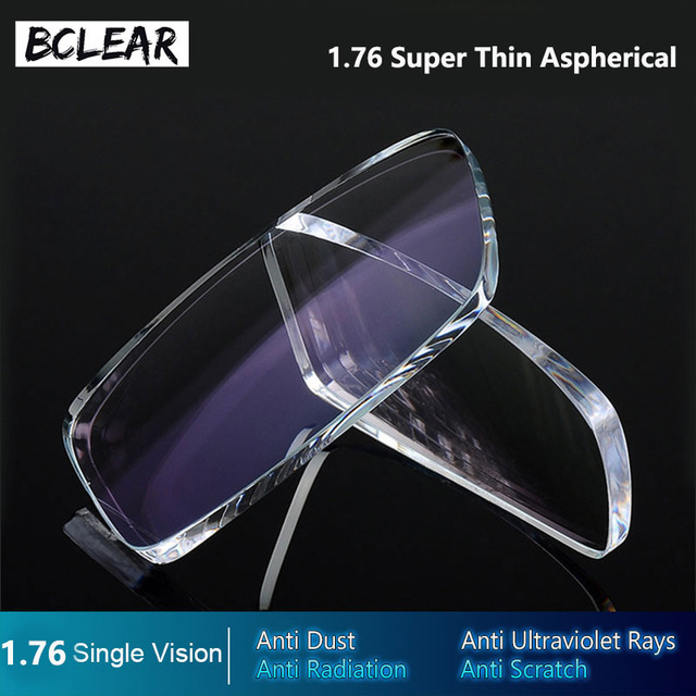 bb9cafd817 BCLEAR 1.76 Aspherical Lenses High Index Super Thin Optical Prescription  Lenses Myopia Glasses HMC EMI Anti