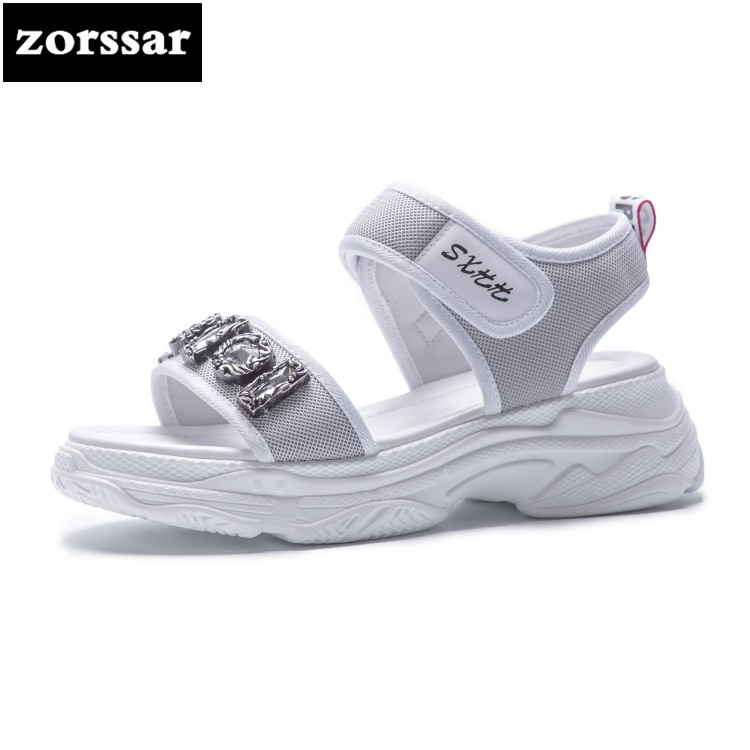 {Zorssar} 2018 Casual Breathable flat sport sandals Summer Womens shoes Open toe flats Casual shoes for women platform sandals lypo women sandals 2018 new flat bottom open toe bow candy color sandals casual crystal jelly shoes women breathable flat shoes