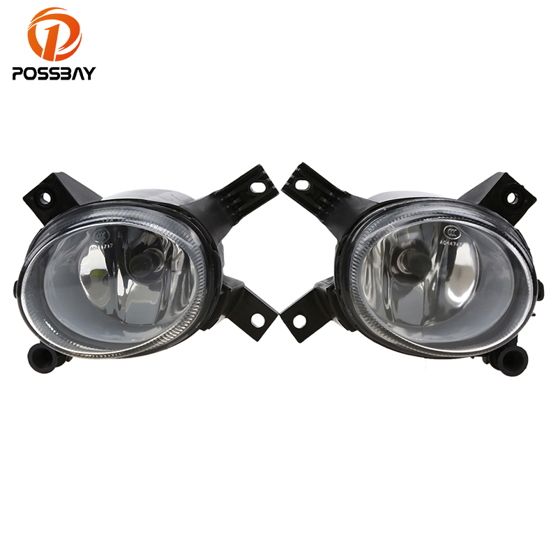 POSSBAY Car Front Driver Fog Lights Assembly External Light for Audi A4/Avant/A4 B7 2005 2006 2007 2008 Front Bumper Foglights 13 pcs canbus white led light interior kit for audi a4 s4 b6 b7 avant 2002 2008 car stying
